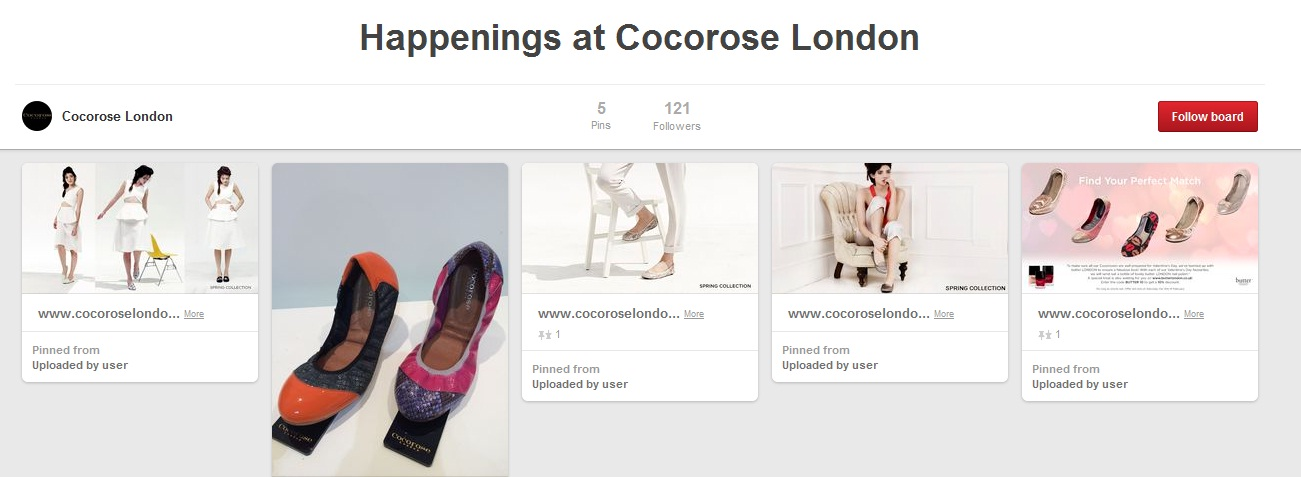 Cocorose London Brand Board